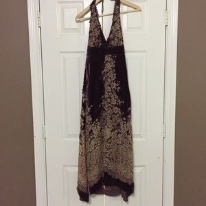 Arden B Silk and Velvet Dress